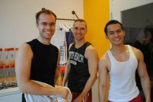 guys in fenway, men fitness, spinning, boston, workout, cardio