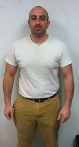 Shane at 2 weeks into the challenge and 6 pounds lost!