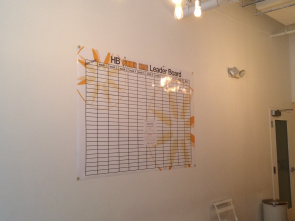 The LeaderBoard will be posted in each studio for riders to keep track of the #HBSummerShare progress!