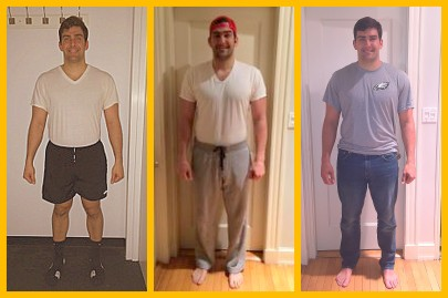 Sean's Six Week #HBTransformation. First picture is week 1 and the third is week 6!
