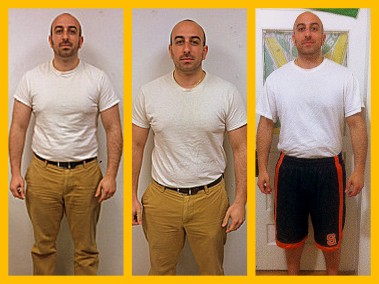 Shane's Six Week #HBTransformation. First picture is week 1 and the third is week 6!