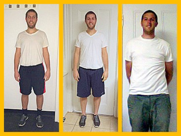 Jeff's Six Week #HBTransformation. First picture is week 1 and the third is week 6!